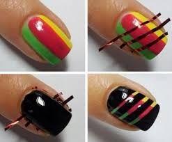 Картинки по запросу дизайны со скотч-лентой для ногтей