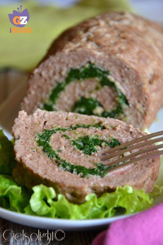 polpettone al vapore con spinaci e prosciutto vert