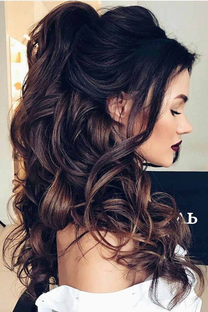 Half Up Half Down Hairstyles For Stylish Brides 15 Best Wedding Hair Styles Images On Pinterest Usa Fashion T Hair Styles Long Hair Styles Curly Wedding Hair
