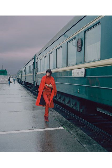 british-vogue: A shot by Norbert Schoerner - taken beside the Trans-Siberian Express - from the January 2005 issue.
