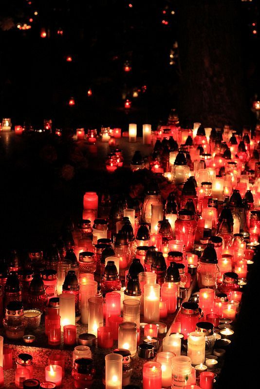 All Saints and All Souls Day in Slovakia (Nov. 1 & 2) The cemeteries are alight with candles as Slovaks remember the deceased.
