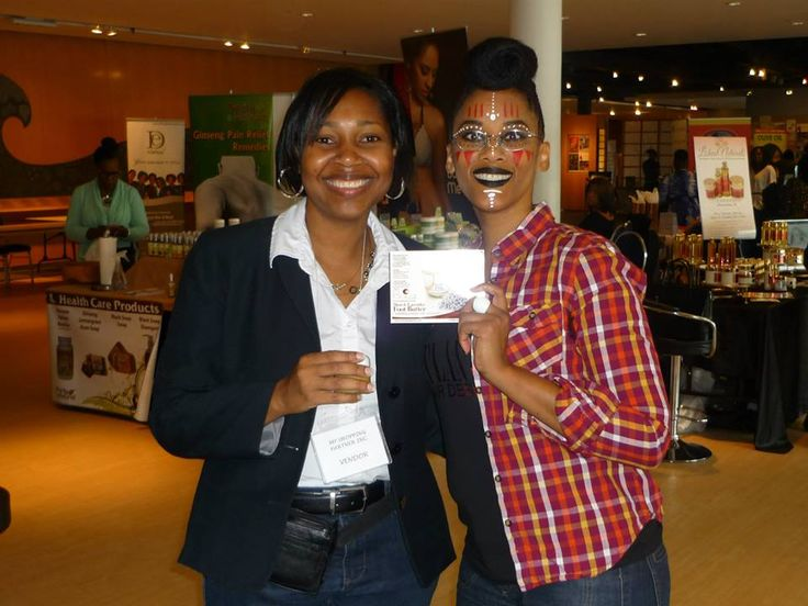 Advertising the amazing Pooka Hair products at the Toronto Natural Hair & Beauty Show