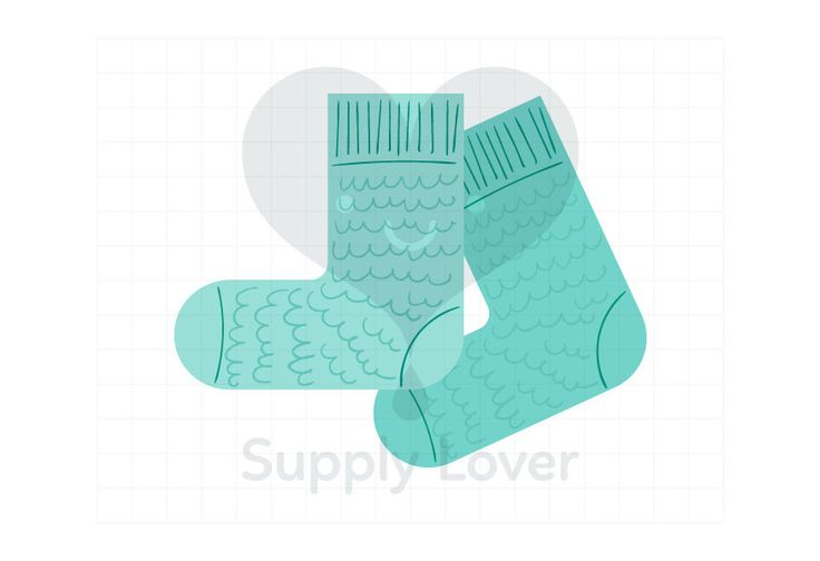 AQUA KNITTED SOCKS Clip-Art Commercial Use, Winter, Aqua, Socks, Turquoise, Knitted, Knit, Wool, Pair of Socks, Warm, Clothes - A0051