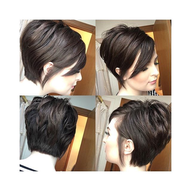 A #pixie360 of my hair. The longer pieces are tucked behind my ears, which gives it a more soft feminine feel. Short hair doesn't have to he masculine looking (I've made that mistake before), so don't be discouraged to go short! So many women look great with short hair, especially women that stick to putting their hair in a pony tale or don't do anything with it when it's down. If you're in that routine, change it up! Chances are a short (and it doesn't have to be super short) cut is going…