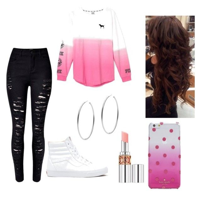 """""""❤PINK OUTFIT❤"""" by anissa-rivera on Polyvore featuring Victoria's Secret, Vans, Michael Kors, Yves Saint Laurent, Kate Spade, women's clothing, women, female, woman and misses"""