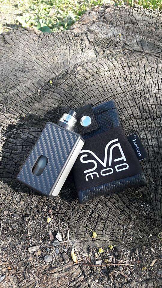 Black carbon belt pouch SVA logo