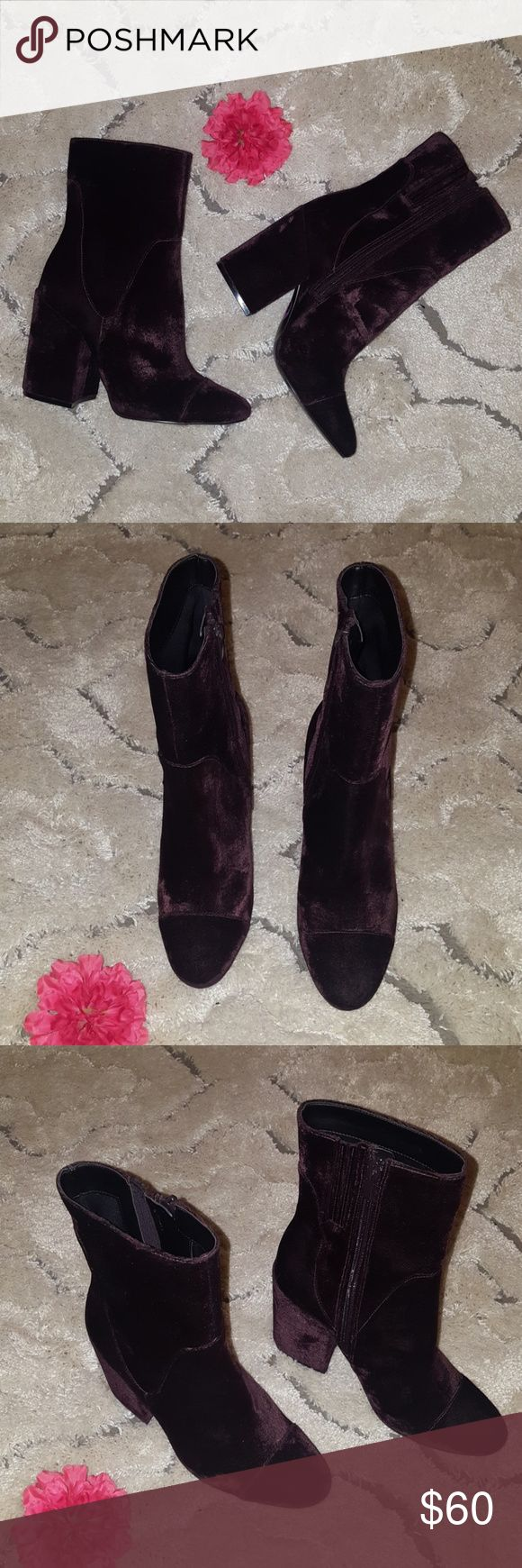 Kendall and Kylie boots NWOT Dark Purple Kendall and Kylie Boots, size 8.5 NWOT Kendall & Kylie Shoes Heeled Boots