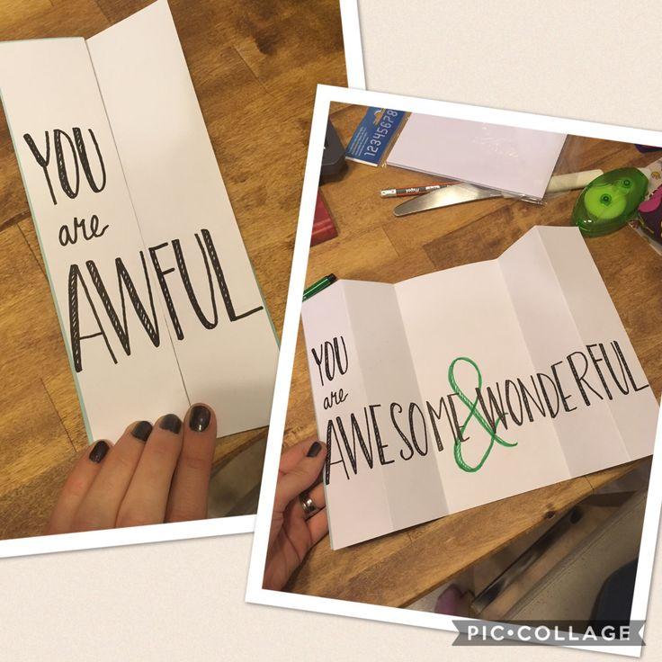 Ystävänpäivä, kortti, diy, awful, awesome & wonderful, valentinesday, card