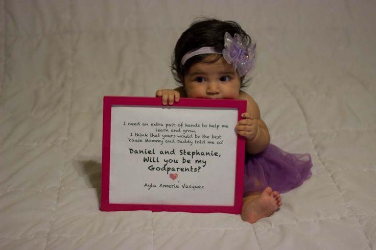 How We Asked #baptism #Godparents #Goddaughter