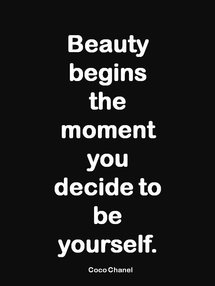 Yes!!! Be comfortable in just being yourself! You can always tell when women are lacking self confidence and are striving for approval from others.