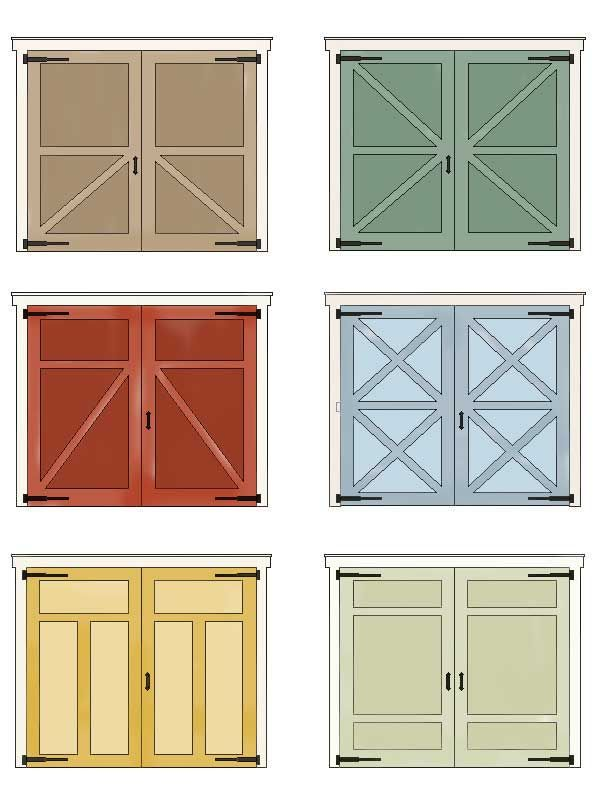 Faux Painted barn Garage Doors | garage doors so i thought why not a closet door
