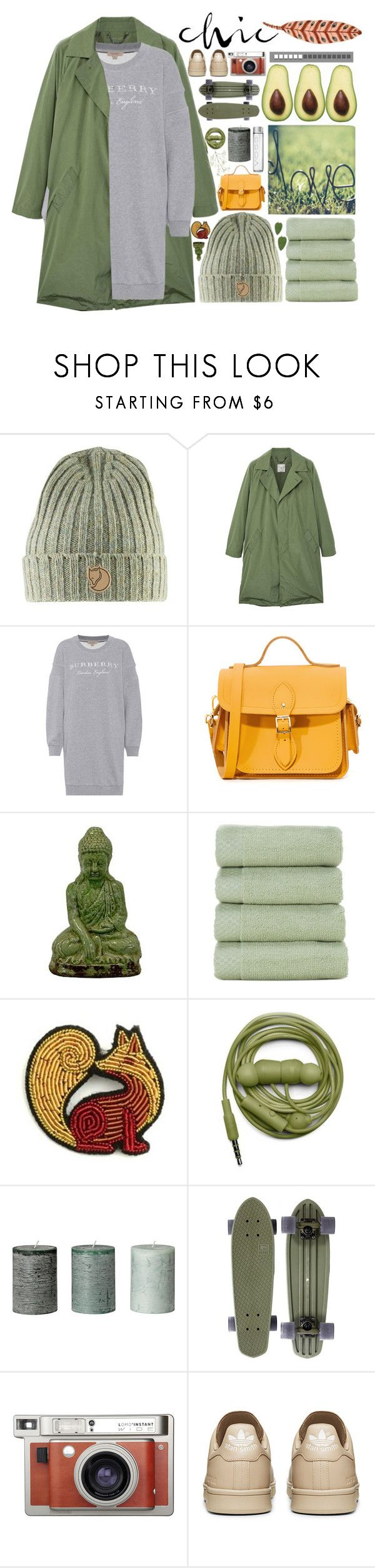 """""""/.Hey grey./"""" by semashamrr ❤ liked on Polyvore featuring Fjällräven, MANGO, Burberry, The Cambridge Satchel Company, Urban Trends Collection, Volte Face, Polaroid, Urbanears and Lomography"""