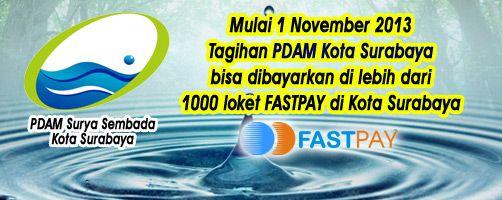 PDAM Surabaya dapat dibayarkan melalui Loket Fastpay https://www.facebook.com/fastpaypartner