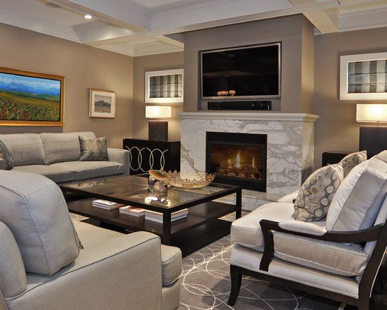 Tv inset in drywall above fireplace mantel pinterest for Drywall designs living room