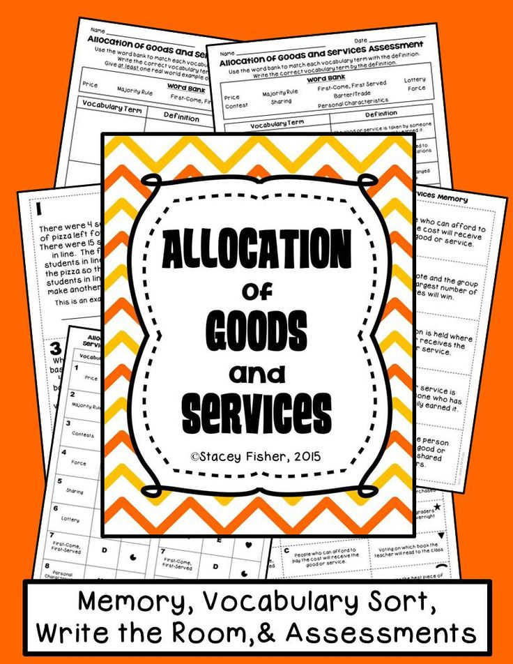 Allocating goods and services through price, majority rule, contest, force, sharing, lottery, barter/trade, first come-first served, and personal characteristics