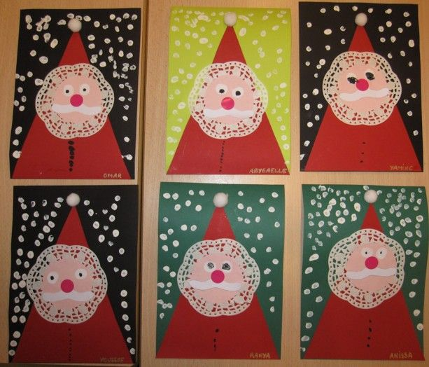 Carte p re no l christmas at school pinterest uvres d 39 art 2d et no l for Combricolage pour noel en maternelle