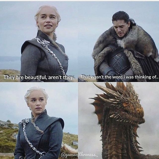 Drogon: excuse me little btch wanna get dracarysed? – Reposted from Game of Thrones Fan Board._ #GameofThrones #got #hbo #gameofthronesmemes