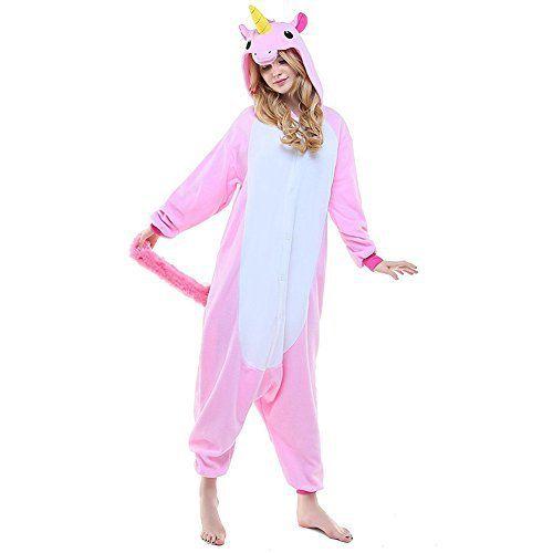 Kigurumi Pyjama Licorne Adulte Unisexe Ensemble de Pyjama Animaux Cosplay Costume Combinaison Soirée de Déguisement: Pyjamas Matériel:…
