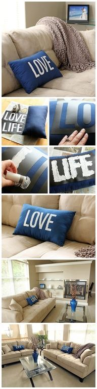 DIY Stenciled Pillow
