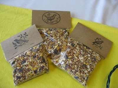 Do It Yourself Bird Seed Packets
