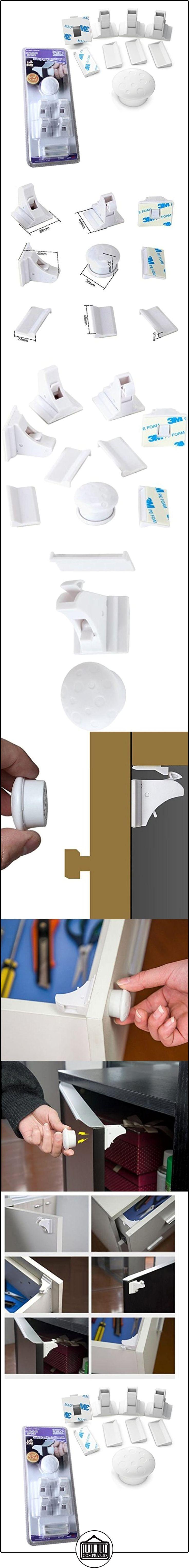Halovie Bloqueo Magnético de seguridad para Bebés y Niños. Cierre Magnético de seguridad para armarios, estantes, gabinetes y cajones a prueba de niños y bebés. (4 cerraduras y 1 llaves)  ✿ Seguridad para tu bebé - (Protege a tus hijos) ✿ ▬► Ver oferta: http://comprar.io/goto/B01MDLEPM5