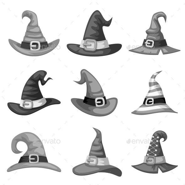 Grayscale Blank Cartoon Witch Hats Cartoon Witch Cartoon Witch Hat Witch Logo