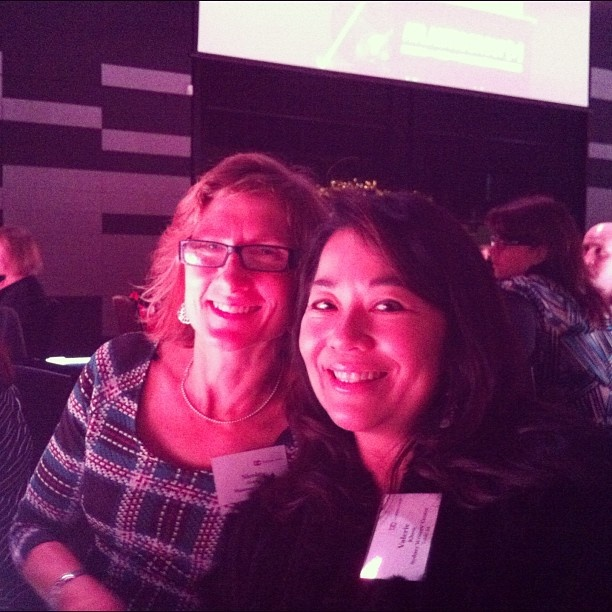 And with the fab @planningqueen at #businesschicks brekky in Melbourne.