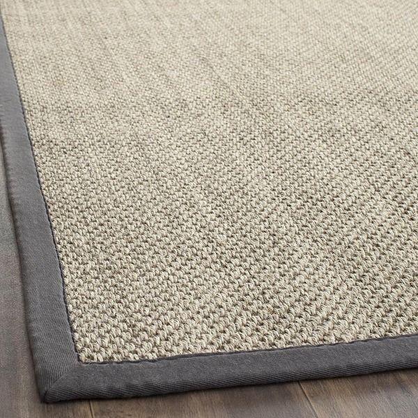 Safavieh Hand-woven Resorts Natural/ Grey Fine Sisal Rug (8' x 10')
