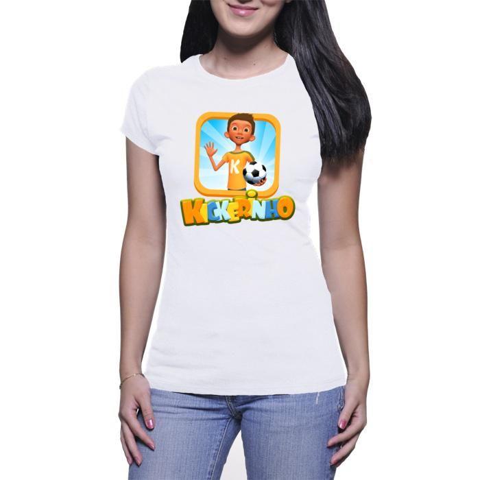 Kickerinho women's t-shirt white