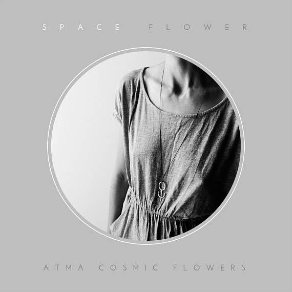 ATMA  Cosmic Flowers // SPACE FLOWER  Silver amulet