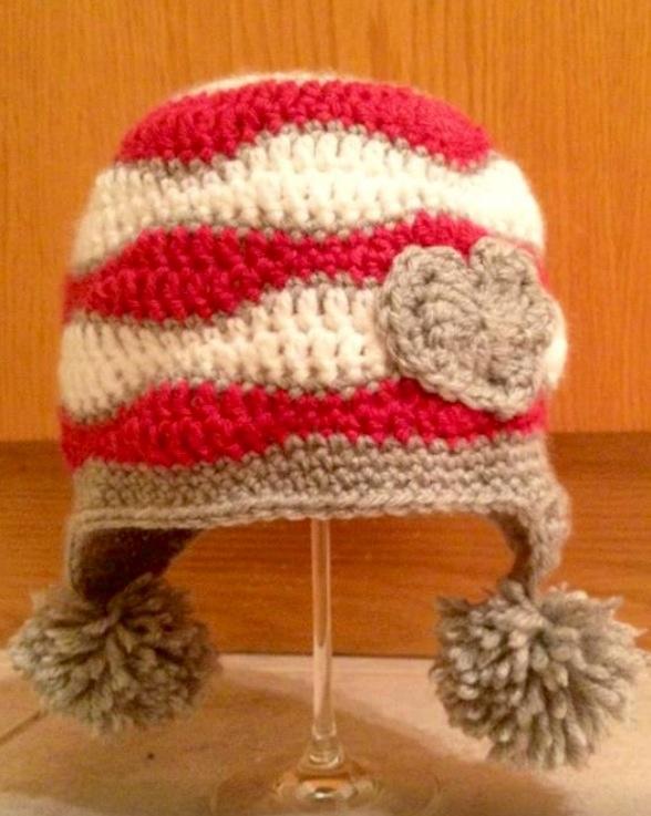 Love Day hat with Pom poms! www.facebook.com/TuTu.Chic ...