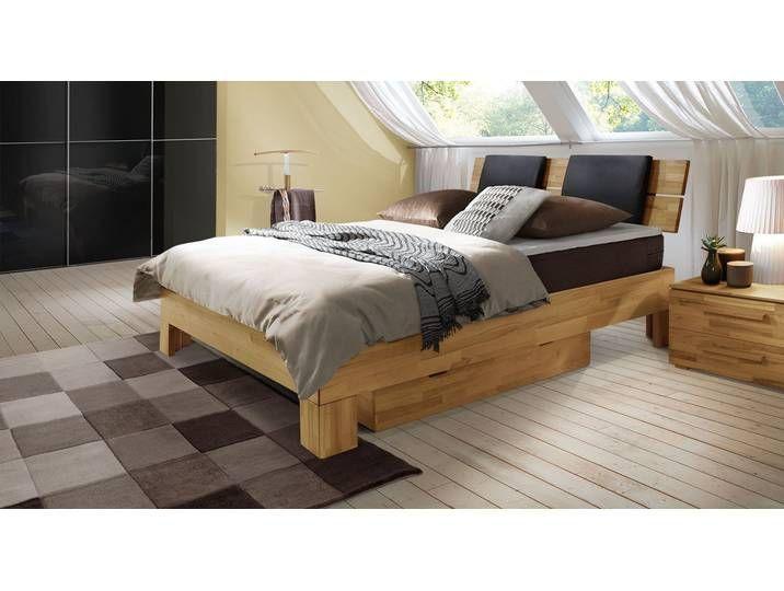 Luxusbett Holz PortLouis 180x210 cm Buche weiß H3