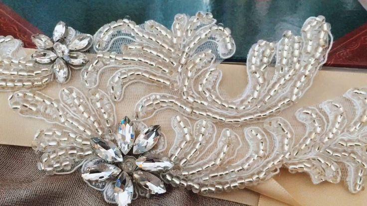 S31 Flower Crystal Bridal Sash Belts Wedding Belt Sashes for Wedding Dress