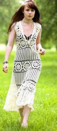 Ganchillo hecho a encargo verano vestido RI24 por CottonMystery