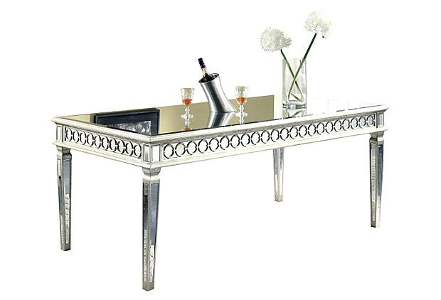 Audrey Mirrored Dining Table Silver on OneKingsLanecom Dream