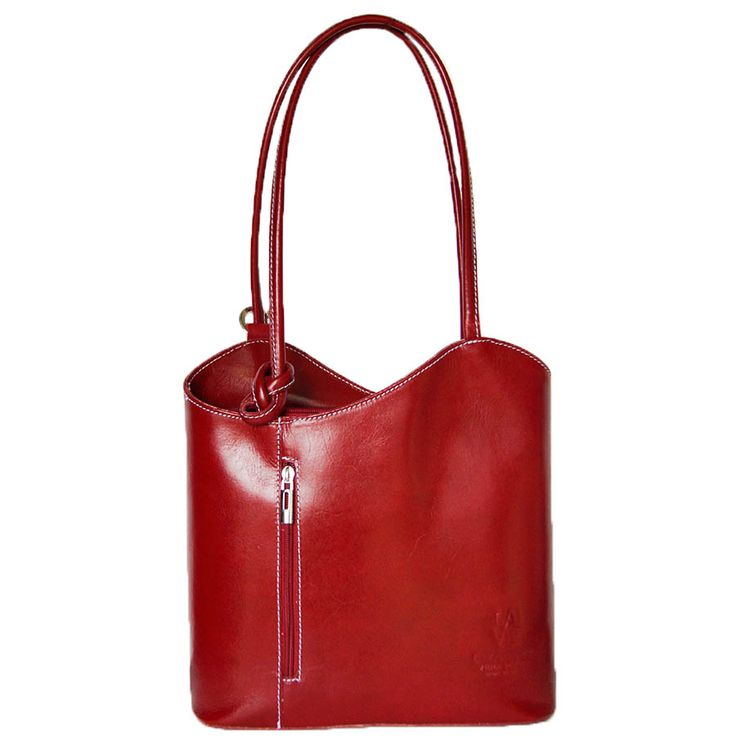 Lizandez Leather Shoulder Bag – Backpack Made from luxurious Italian leather, this leather handbag is not only beautiful in appearance but its slick straps allow easy movement through its guided rings to convert this bag into a backpack.