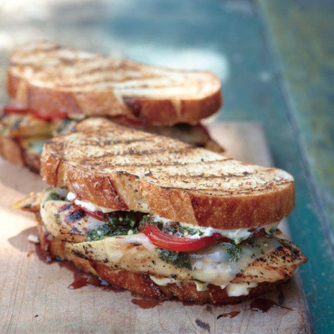 Pesto Chicken Sandwiches