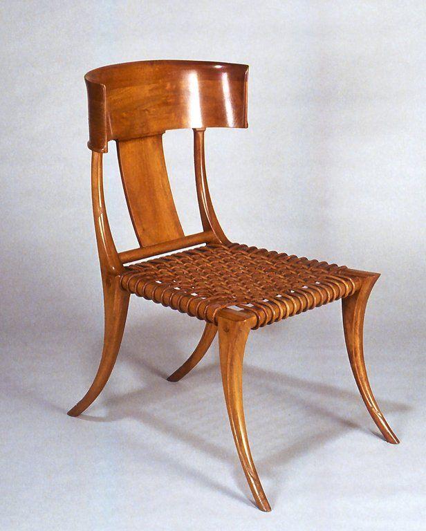 Modern Klismos Chair: Κλεισμός κάθισμα υπνοδωματίου φτιαγμένο στα μέτρα της