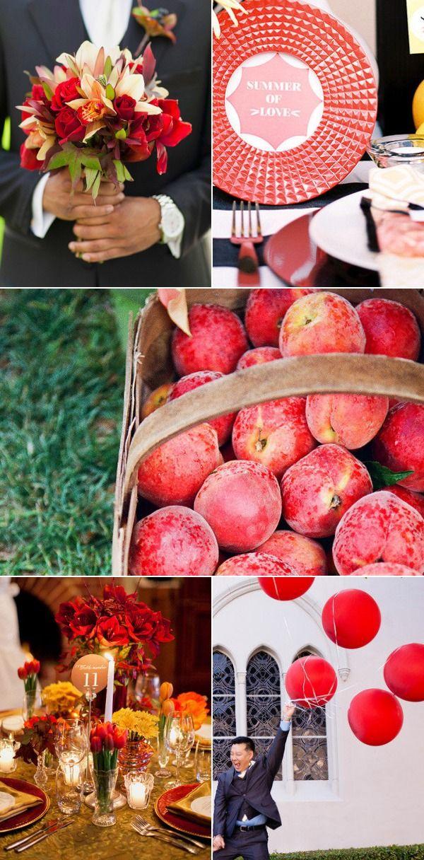 Fall 2014 Weddings Pantone: Aurora Red