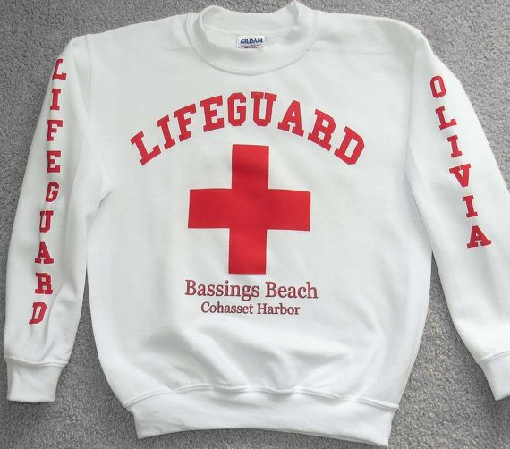 Lifeguard sweatshirts personalized by NiceThreads on Etsy