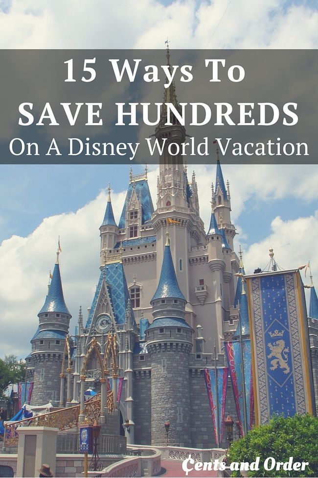 15 Tips to save hundreds on a Disney World vacation! Disney can be enjoyed even on a budget with these money saving tips. budget travel tips, budget travel usa, #travel, #traveltips