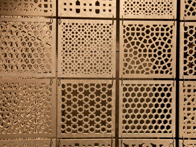We have created this jali design from sandstone material for Interior jali designs