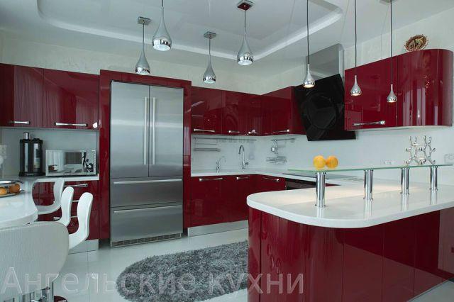кухня бордовая - Поиск в Google
