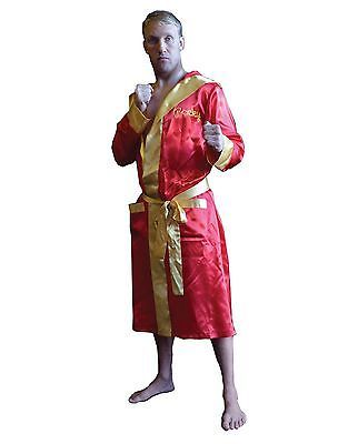 OFFICIAL Rocky Balboa Boxing Robe Halloween Costume Adult Men's Movie Boxer