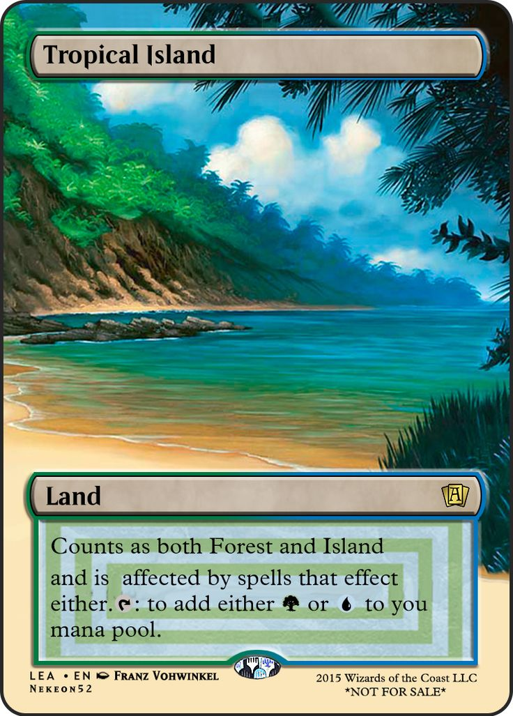 MTGO Cube Alternate Art Tropical Island SA