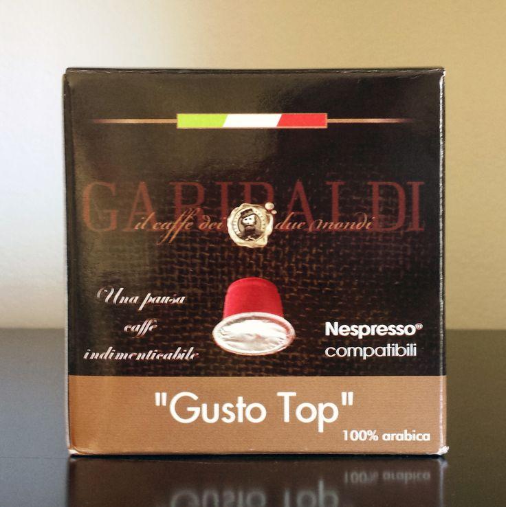 Dalla maestria della Torrefazione Garibaldi la nuova capsula Gusto TOP compatibile Nespresso, 100% Arabica. 6,25€ Iva compresa per 1 conf. da 25 caps.