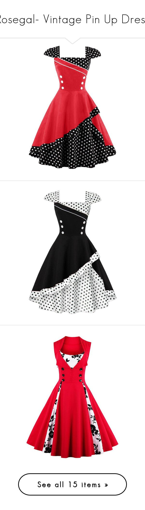 """Rosegal- Vintage Pin Up Dress"" by fshionme ❤ liked on Polyvore featuring dresses, red polka dot corset, spotted dress, red dot dress, polka dot print dress, vintage corset dresses, vintage day dress, corsette dress, dot dresses and vintage fit and flare dresses"