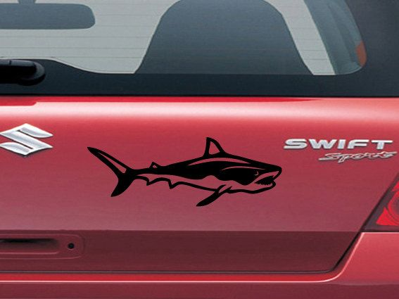 Best Shark Car Stickers Images On Pinterest Car Stickers - Car window decals custom made