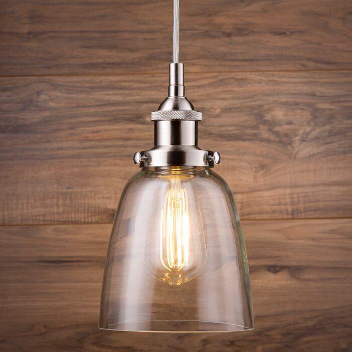 Bundaberg 1 Light Single Bell Pendant Reviews Birch Lane Chrome Pendant Lighting Pendant Light Light