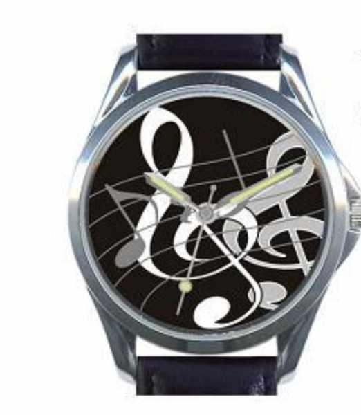 Sol Anahtarı Notalı Kol Saati | Çift sol anahtarı figürlü, deri kordonlu, hediye kutulu kol saati. Pilsiz gönderilir. #saat #kolsaati #masasaati #erkeksaatleri #kadinsaatleri #dijitalsaat #cocuksaatleri #unisexsaatler #watch #akillisaatler #smartwatch #clock #aksesuar #Satacak